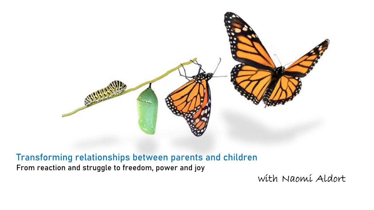 UPCOMING ONLINE CLASS - Parenting With Naomi Aldort (Part 2) - REGISTER HERE